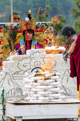 Ceremonial Offering, Jakar, Bumthang, Bhutan
